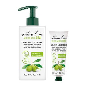 NATURALIUM HAND, FOOT & BODY CREAM 3 IN 1 - OLIVE