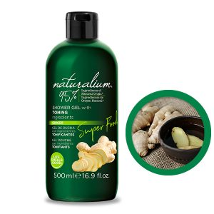NATURALIUM SHOWER GEL with TONING ingredients